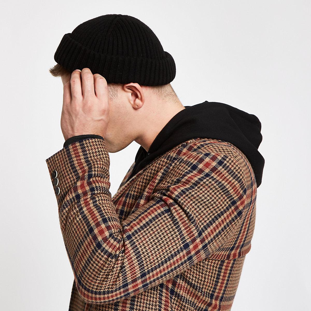Black mini fisherman beanie hat - Hats   Caps - Accessories - men cdb6295f4ba