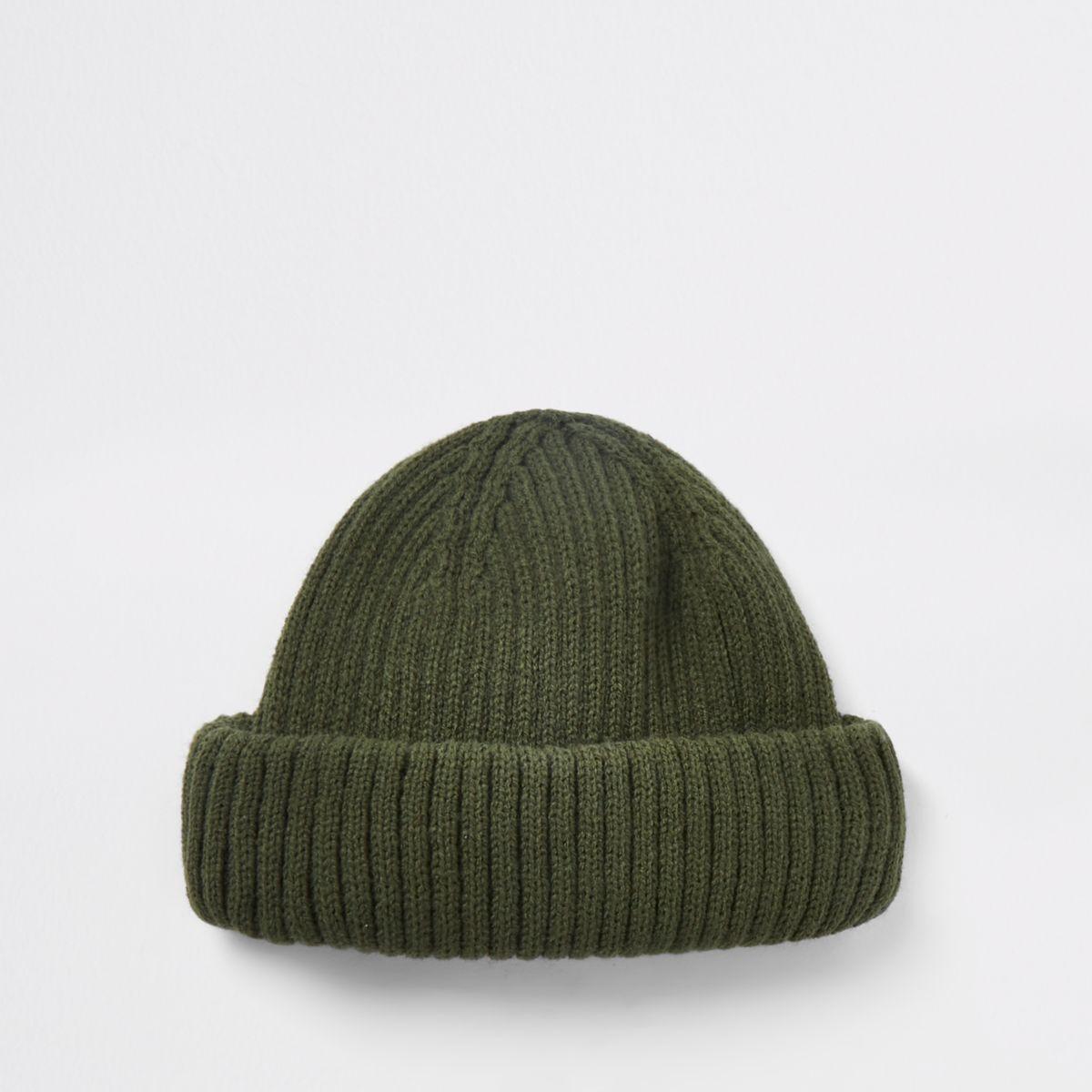 583c4131f96a3 Khaki green fisherman beanie hat - Hats   Caps - Accessories - men
