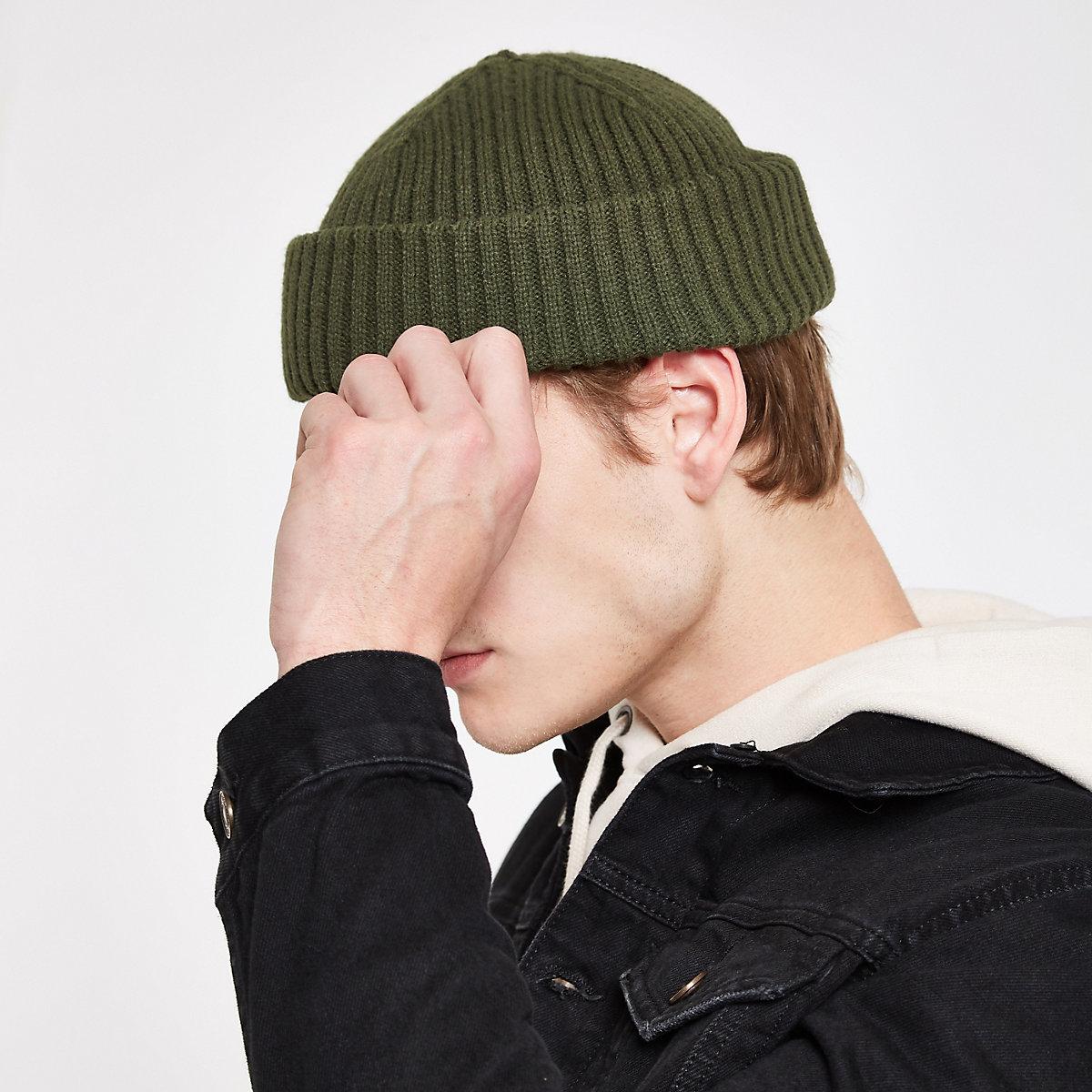 Khaki green mini fisherman beanie hat - Hats   Caps - Accessories - men efff92d24c9