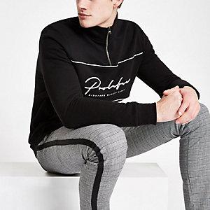 """Schwarzes Slim Sweatshirt """"Prolific"""""""