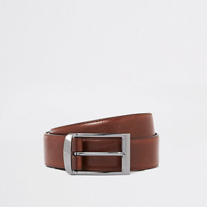 Brown RI monogram belt
