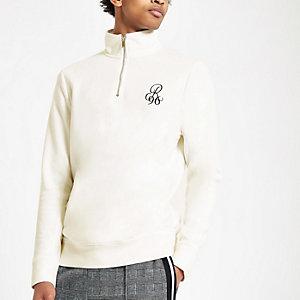 "Weißes Slim Fit Sweatshirt ""R96"""