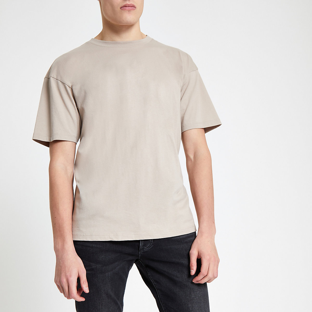 Stone oversized short sleeve T-shirt