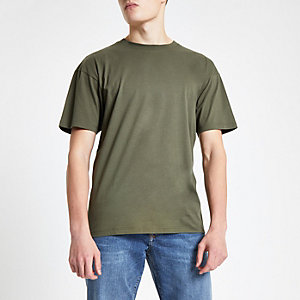 Groen oversized T-shirt met korte mouwen
