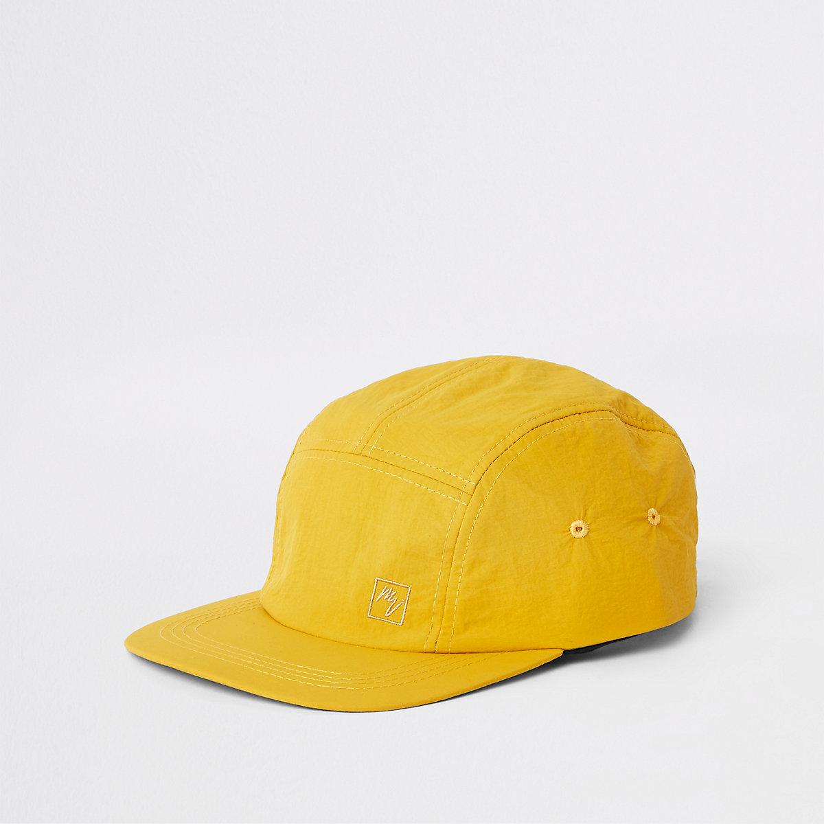 Yellow 'Maison Riviera' five panel cap