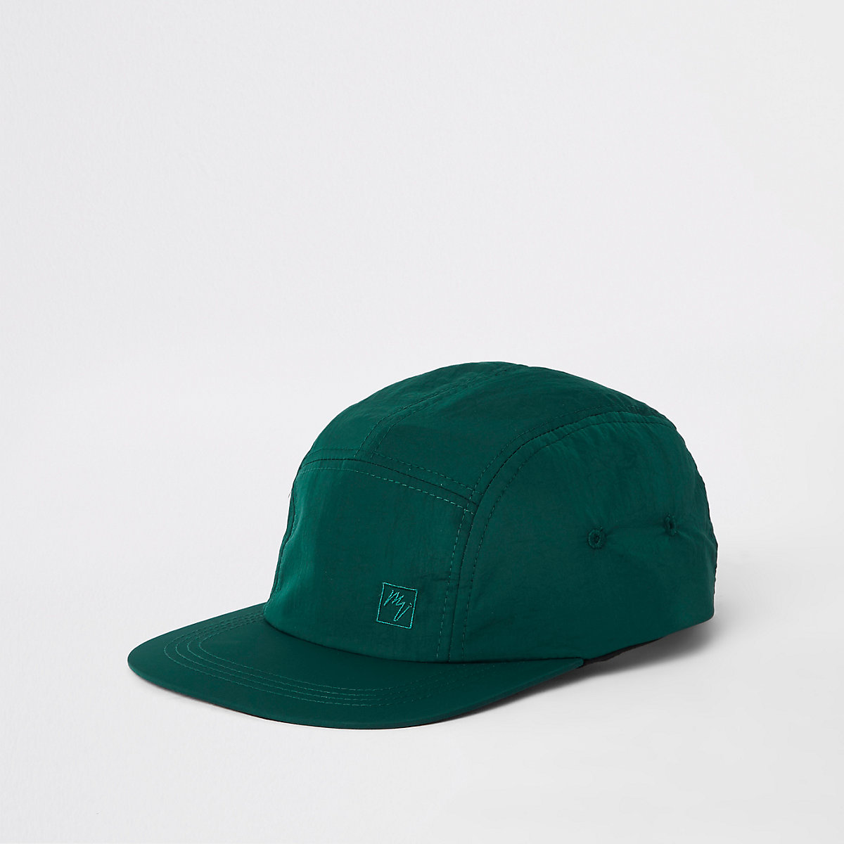 Green 'Maison Riviera' five panel cap