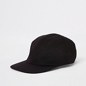 Black 'Maison Riviera' five panel cap