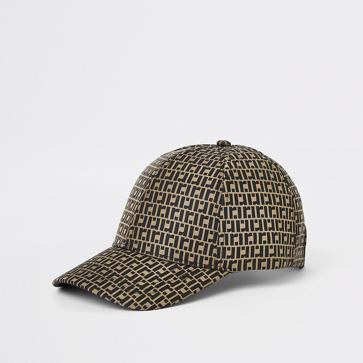 Brown RI monogram baseball cap