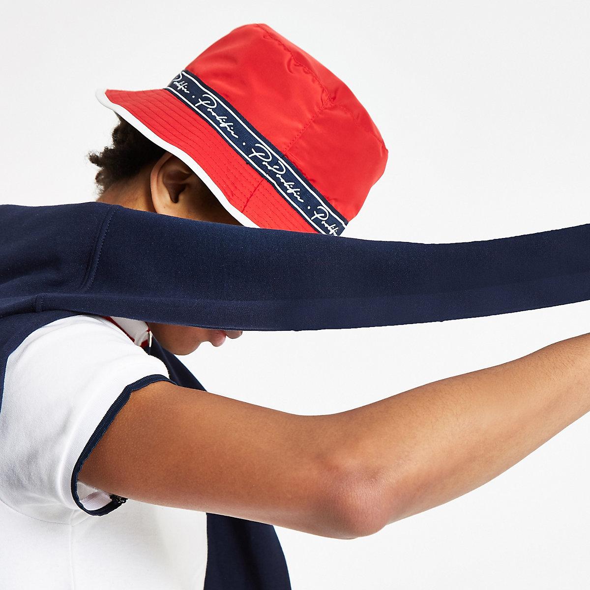 45dfc5239c4 Red  Prolific  taped bucket hat - Hats   Caps - Accessories - men