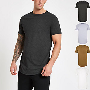 Black slim fit T-shirt multipack