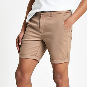 Short chino marron clair