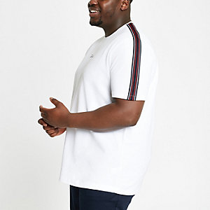 Big and Tall white 'Prolific' T-shirt