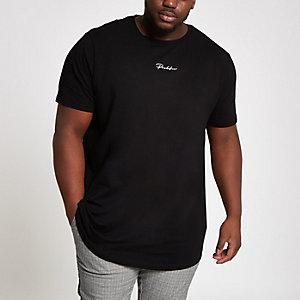 Big & Tall - Curve - 'Prolific' T-shirt in zwart