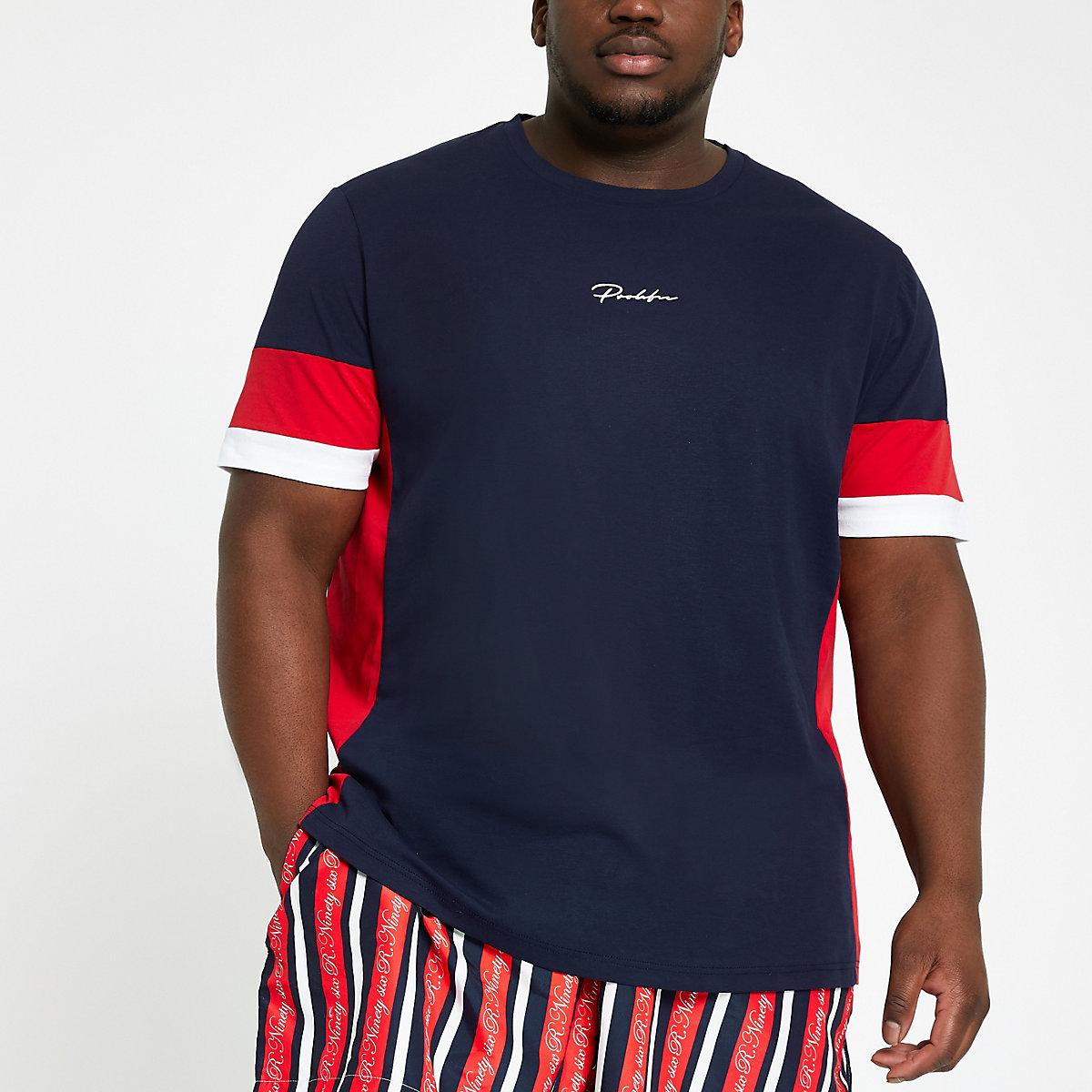 Big and Tall navy 'Prolific' T-shirt