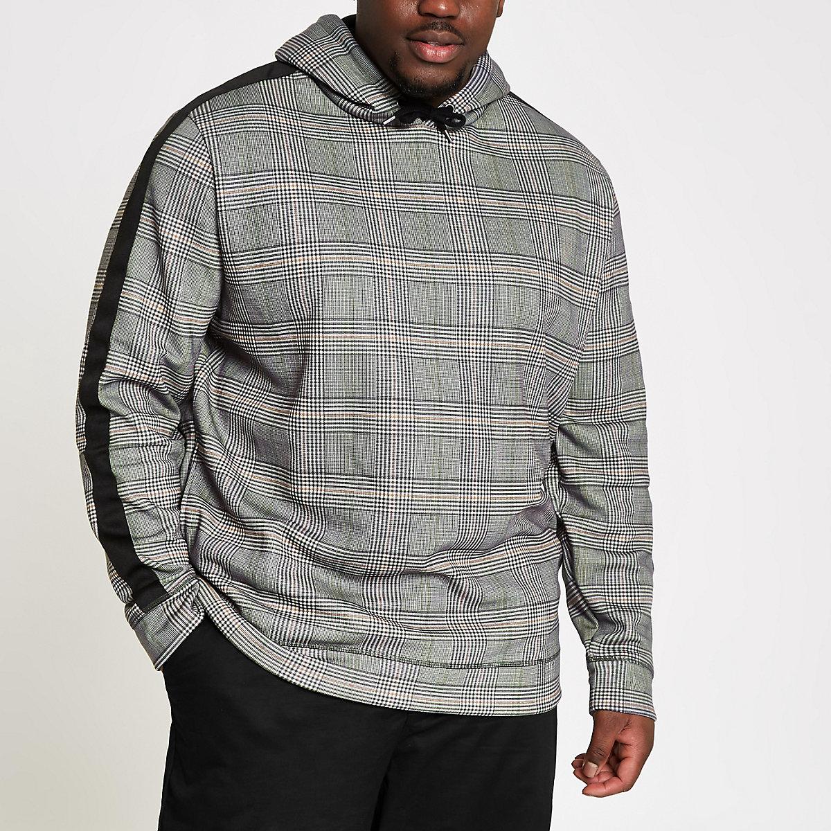 Big & Tall – Grauer Slim Fit Hoodie