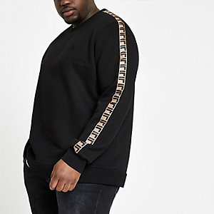 Big and Tall black RI slim fit sweatshirt