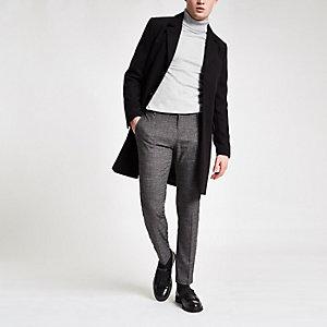 Pantalon habillé super skinny rayé gris foncé