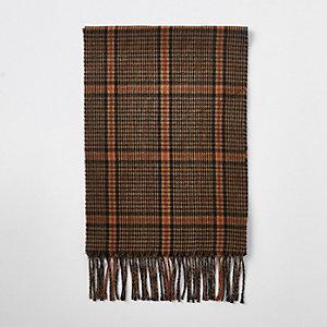Bruine vintage geruite sjaal