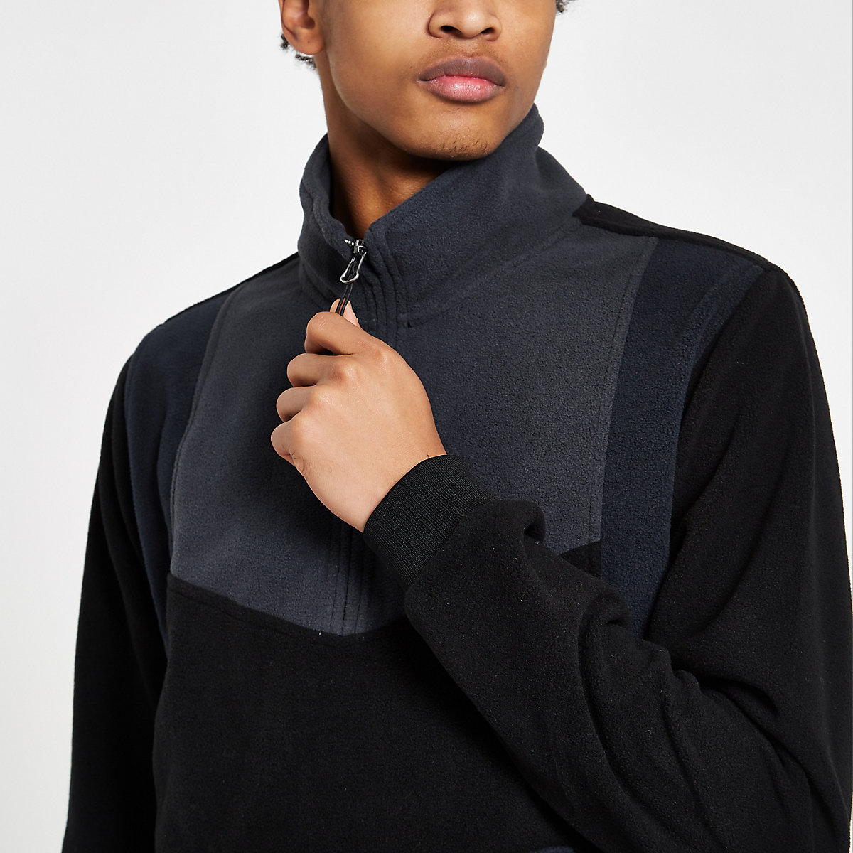 Bellfield black funnel neck fleece