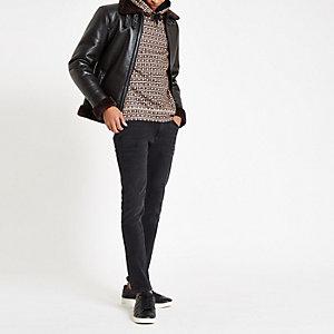 Sid – Jean skinny noir délavé