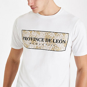 "Weißes Slim Fit T-Shirt ""Province"""