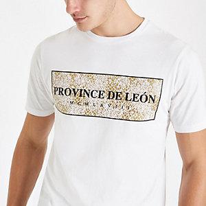 T-shirt slim à imprimé « Province » blanc