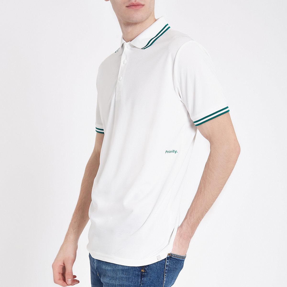 Minimum white tipped polo shirt