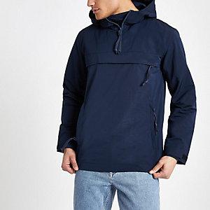 Minimalistisch marineblauw lichtgewicht jack