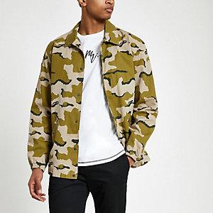 Minimum – Veste motif camouflage verte
