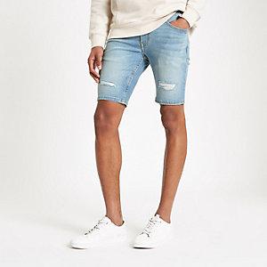 Sid – Blaue Skinny Fit Jeansshorts