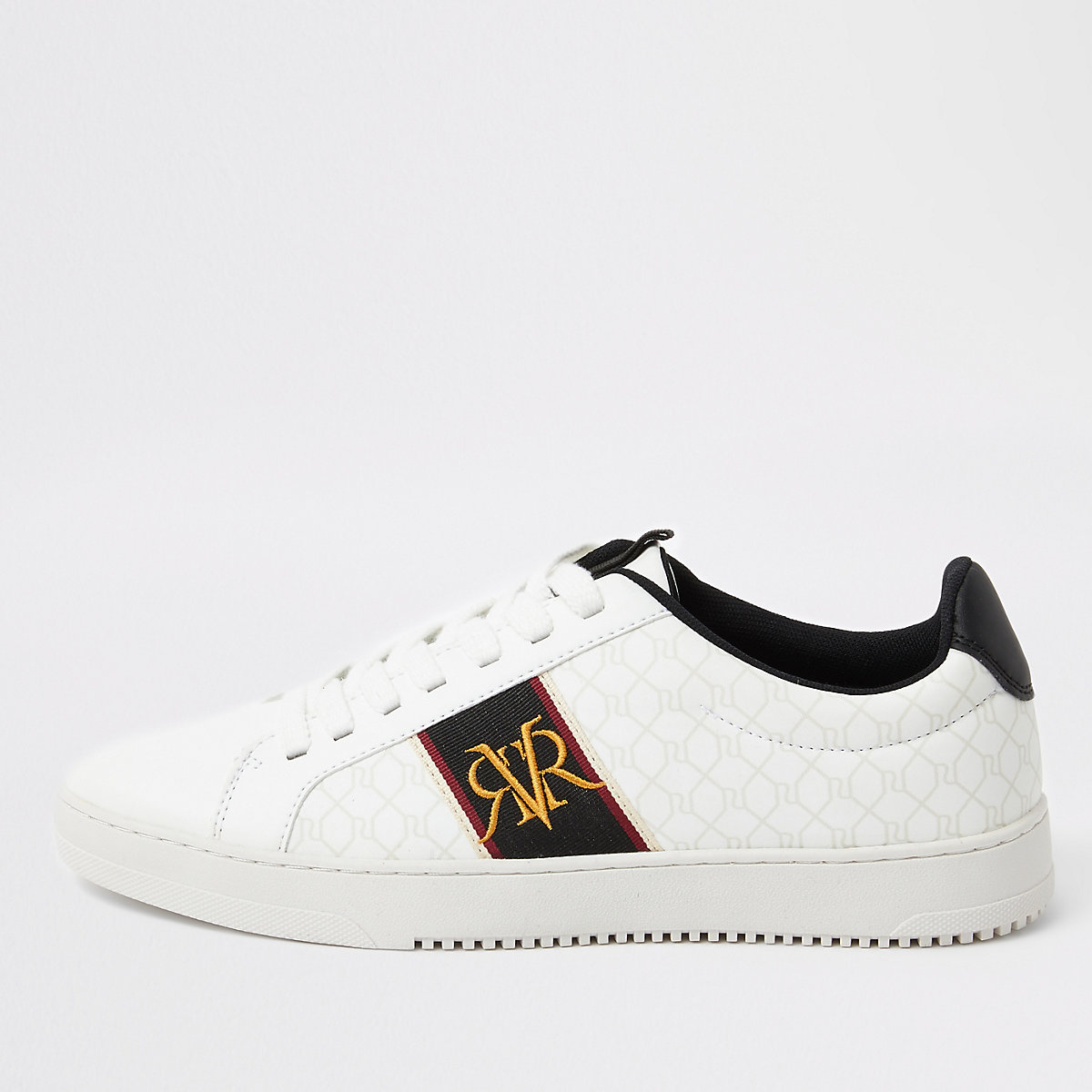 White RI monogram sneakers