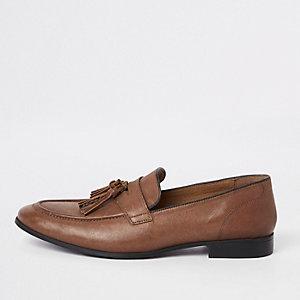 Braune Loafer aus Leder