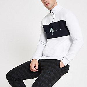 """Weißes Slim Fit Sweatshirt """"Maison Riviera"""""""
