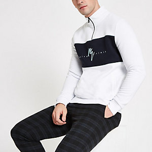 Wit 'Maison Riviera' slim-fit sweatshirt
