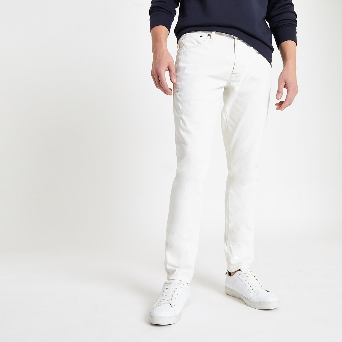 Pepe Jeans ecru Stanley tapered jeans