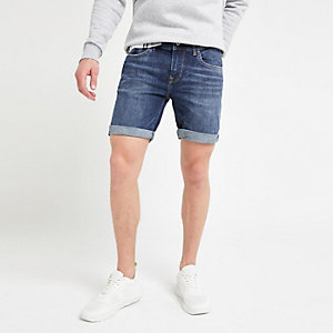 Pepe Jeans blue slim fit denim shorts