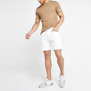 Pepe Jeans white Belife denim shorts
