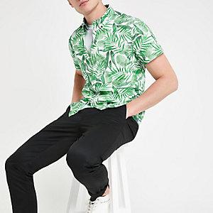 Pepe Jeans - Groen overhemd met tropische print