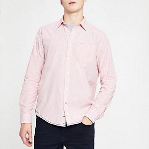 Pepe Jeans - Roze overhemd met krijtstreep