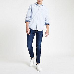Pepe Jeans - Blauw overhemd met krijtstreep