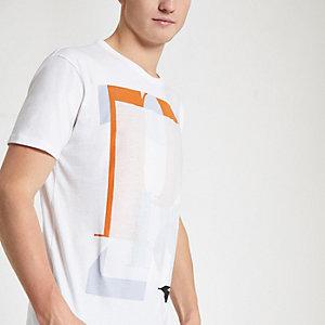 Pepe Jeans - Wit ruimvallend T-shirt met print