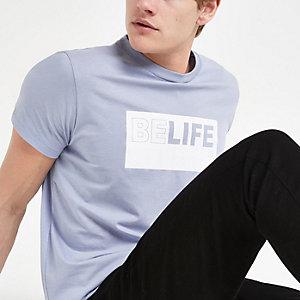 """Pepe Jeans – Blaues T-Shirt """"Belife"""""""