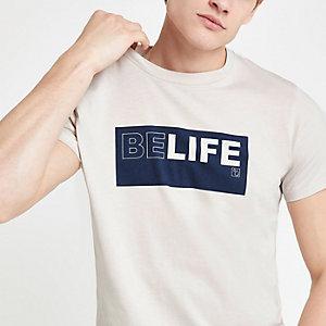 Pepe Jeans - Ecru T-shirt met 'Belife'-print
