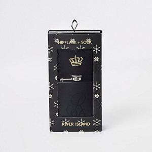 Coffret flasque noire et chaussettes « R96 »