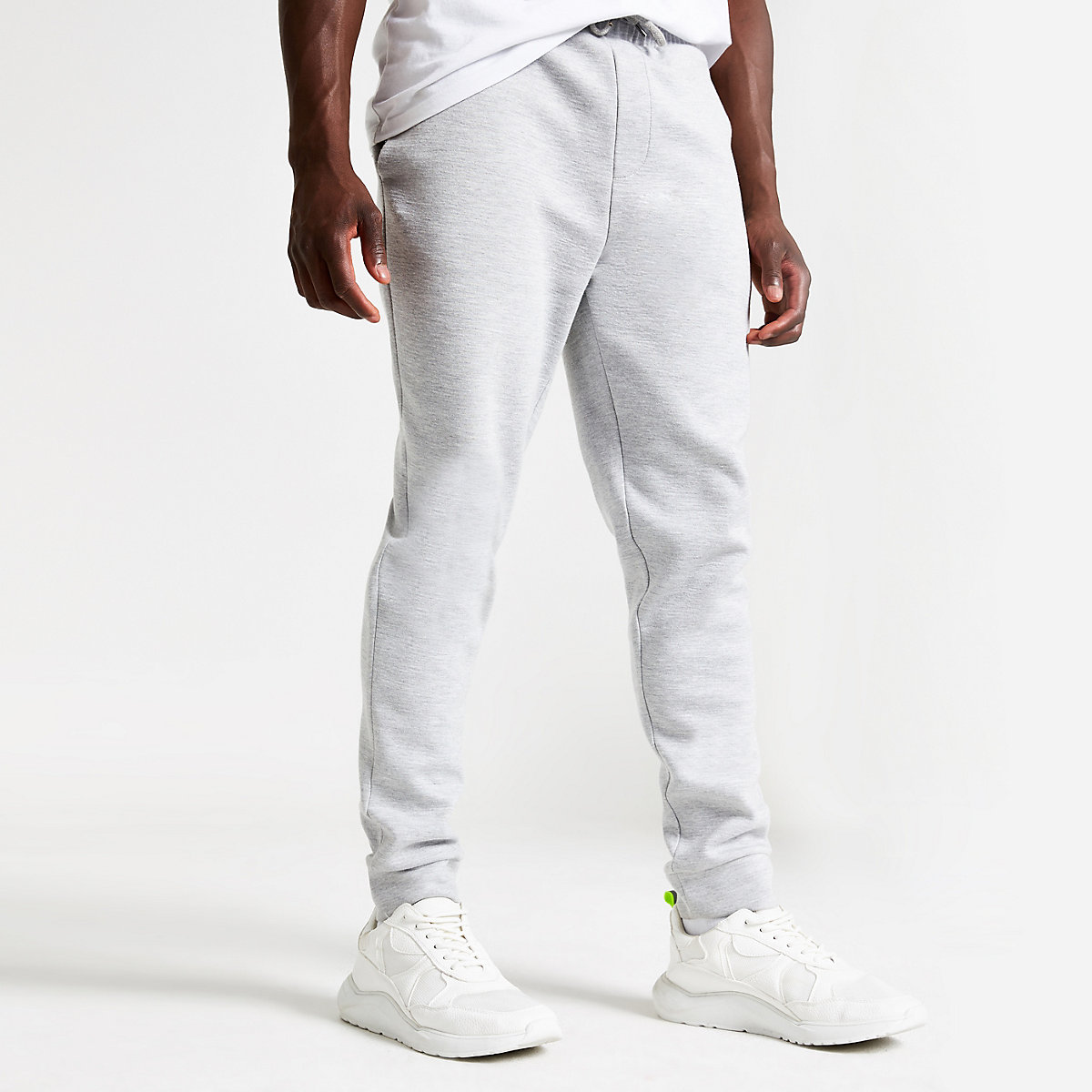 Grey marl slim fit joggers