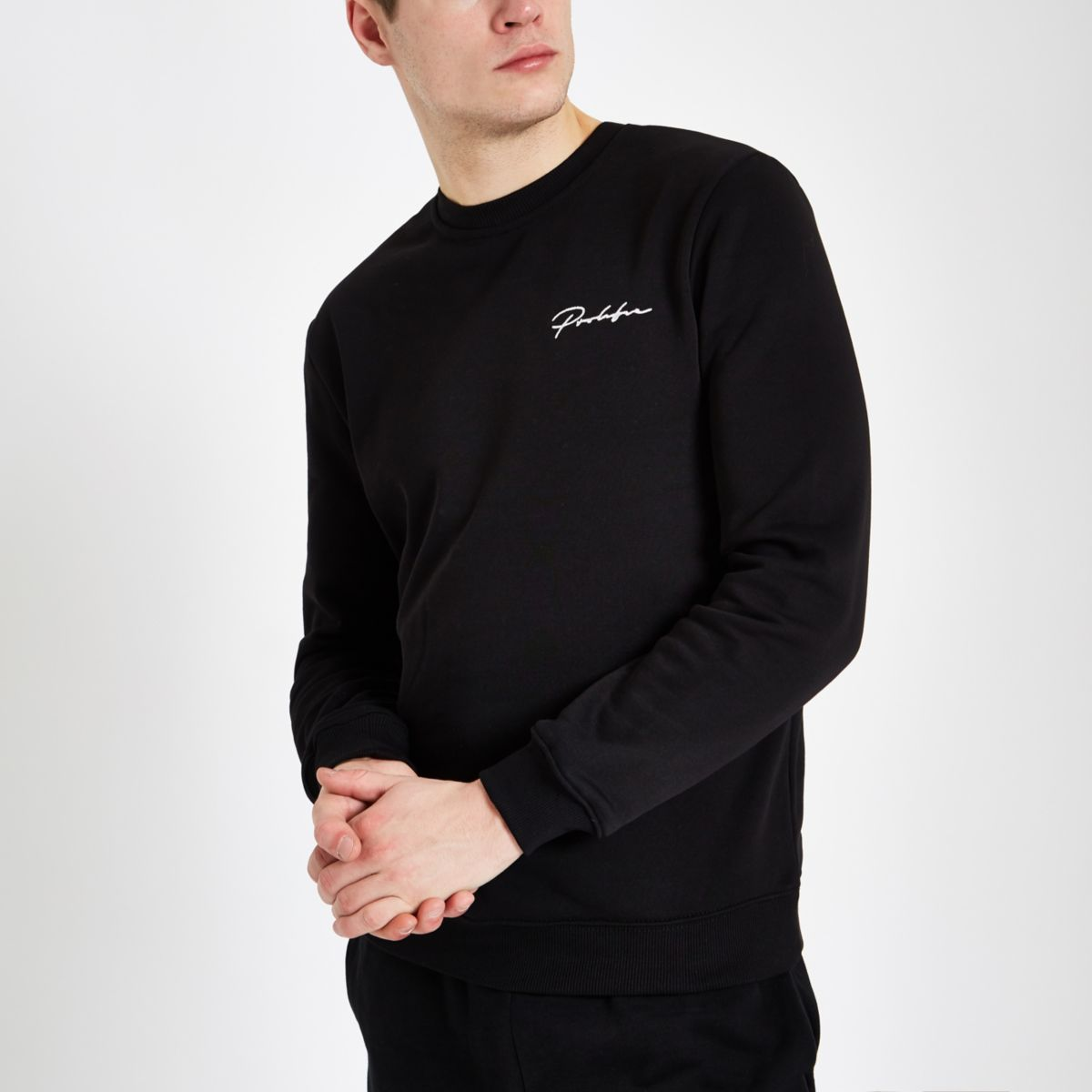 Black 'Prolific' slim fit sweatshirt