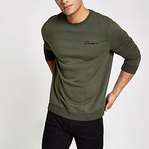 "Khakigrünes Slim Fit Sweatshirt ""Prolific"""