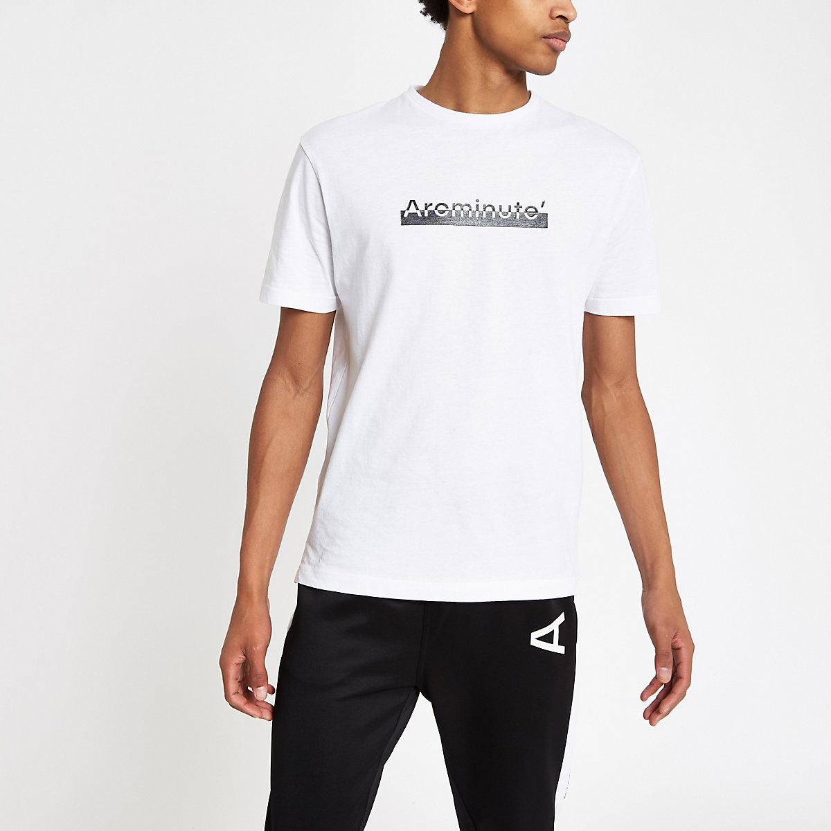 Arcminute white logo print T-shirt