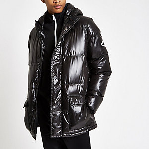 Arcminute black quilted jacket