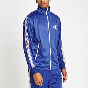 Arcminute – Blaues Sport-Oberteil mit seitlichen Streifen